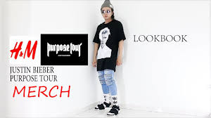 h m justin bieber purpose tour merch