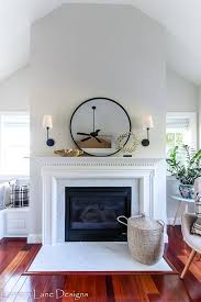 fireplace makeover using l and stick