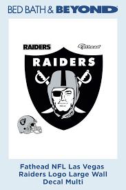 Fathead Nfl Las Vegas Raiders Logo Large Wall Decal In 2020 Large Wall Decals Wall Decals Large Wall