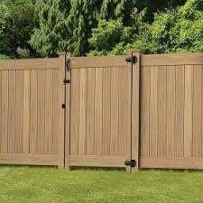 Veranda Linden 6 Ft H X 8 Ft W Cypress Vinyl Privacy Fence Panel Kit 73014524 The Home Depot Vinyl Privacy Fence Privacy Fence Designs Privacy Fence Panels