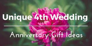 best 4th wedding anniversary gift ideas