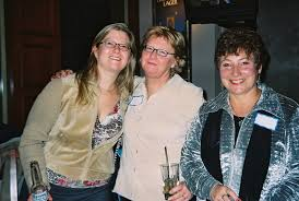 Wendy MacLeod, daughter Rachel & Andrea Clarke