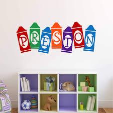 Playroom Wall Decal Crayon Name Custom Kids Vinyl Lettering