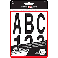 Hillman Vinyl Die Cut Black Packaged Letters And Numbers 3 In At Tractor Supply Co