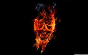 fire skull ultra hd desktop background