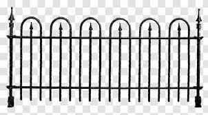 Fence Clip Art Wrought Iron Clipart Transparent Png