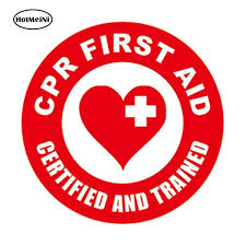 12cm X 12cm Reflective Cpr First Aid Helmet Sticker Aed Emt Rescue Firefighter Paramedic Car Window Decal Wish