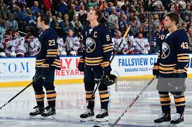 Sam Reinhart, Jack Eichel and Conor Sheary of the Buffalo Sabres ...