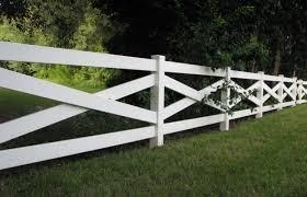 Cross Buck Vinyl Fence Contractor Mt Hope Fence In Ohio