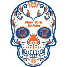 Nba New York Knicks Small Outdoor Skull Decal Target