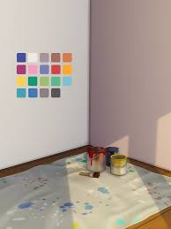 sims 4 cc used in 2020 wall painting