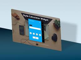 style calculator widget web elements