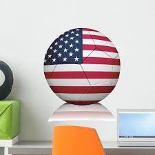 American Flag Football Wall Decal Wallmonkeys Com