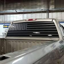 All Years American Flag Decal Silverado Sierra Sticker Rear Window Vinyl Ebay