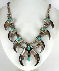 vintage bear claw turquoise sterling