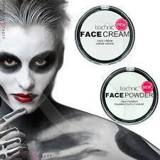 white foundation cream face paint