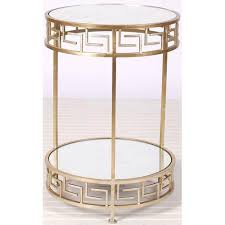 raphael gold greek key round side table