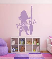 Amazon Com Moana Vinyl Wall Decal Silhouette Home Decor For Playroom Girls Bedroom Or Nursery Birthday Party Decoration Handmade