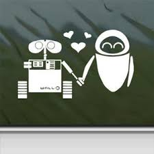Disney White Sticker Decal Wall E Eve Ro Buy Online In Guernsey At Desertcart