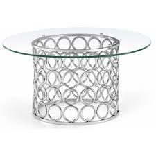 round glass silver circles base coffee