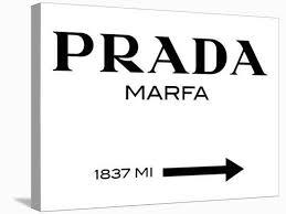 Prada Marfa Sign Stretched Canvas Print Elmgreen And Dragset Art Com