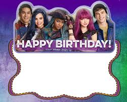 Descendants Birthday Party Invitation Card Invitaciones De