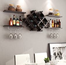 wall wine rack glass holder with 4