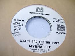 MYRNA LEE - MYRNA LEE 45 RPM What's Bad For The Goose / Same - Amazon.com  Music