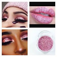 crystal rose pink glitter dust body nail art party shimmer makeup lips eyeshadow