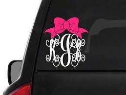 Etsy Hartofdixieco On Twitter Car Decal Sticker Monogram Car Decal Monogram Monogrammed Car Decal Monogram Car Personalized Car Decal Preppy Yeti Https T Co Olqj6l9ljo
