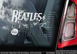 The Beatles Car Window Sticker Lennon Mccartney Rock Pop Decal Sign V02 3 95 Picclick