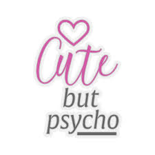 Car Decal Cute But Psycho Vinyl Sticker Decal Laptop Decal Stickers