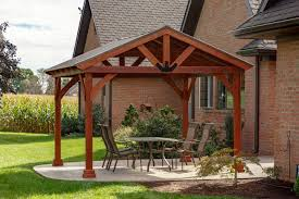 YardCraft Westmont 12.5 Ft. W x 12 Ft. D Solid Wood Patio Gazebo ...