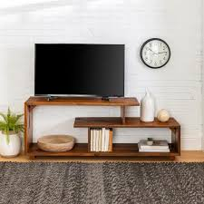 rustic modern solid wood tv