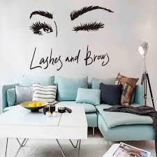 Removable Lashes Eye Quote Diy Pvc Wall Sticker Home Decal Mural Room Decoration Buy At A Low Prices On Joom E Commerce Platform