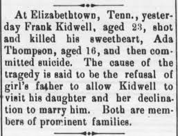 Murder of Ada Thompson and suicide of Frank Kidwell - Newspapers.com