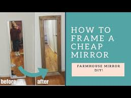 diy farmhouse mirror 5 mirror
