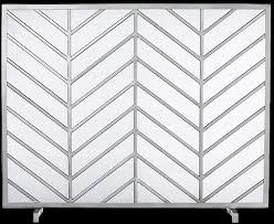 chevron fireplace screen decorist