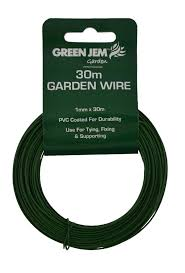 garden wire plastic green pvc coated