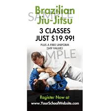 Brazilian Jiu Jitsu Window Cling Marketing 4 Martial Arts