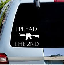 I Plead The 2nd Car Decal Etsy