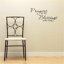 Prayers Go Up Blessings Come Down Wall Art Wall Sayings Vinyl Etsy