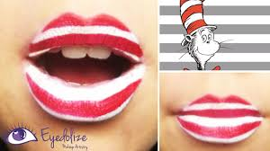 easy dr seuss cat in the hat lipstick