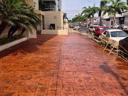 300 m2 de concreto estampado terminado... - Concretec - Concreto ...