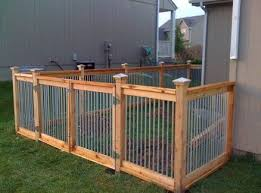 Cedar And Metal Fence Backyard Dog Area Diy Dog Fence Backyard Fences