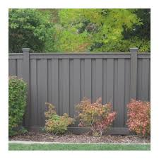 Trex Seclusions 6 Ft X 8 Ft Winchester Grey Wood Plastic Composite Board On Board Privacy Fenc In 2020 Privacy Fence Panels Privacy Fence Designs Modern Fence Design