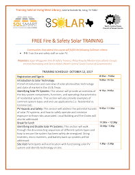 FREE Fire & Safety Solar TRAINING