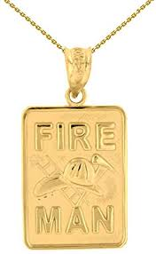 solid 14k gold fireman firefighter
