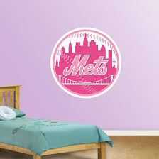 Pink Mets Logo Wall Decal Allposters Com