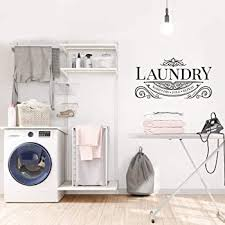 The Laundry Room Laundry Room With Bubbles Wall Decal Home Decor Laundry Room Decor Black Amazon Com